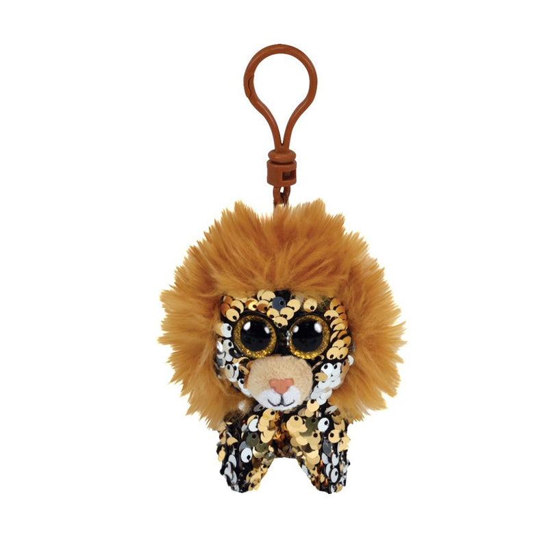 Ty Flippables 5in Clip - REGAL - Lion Sequin