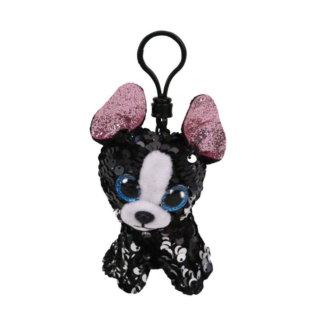 Ty Flippables 5in Clip - PORTIA - Sequin Terrier