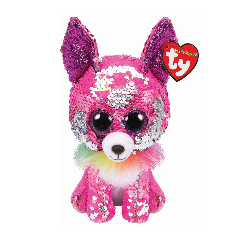 Ty Flippables 6in Regular - CHARMED - Sequin Pink Sequin Chihuahua