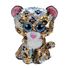 Ty Flippables 6in Regular - STERLING - Sequin Gold Leopard