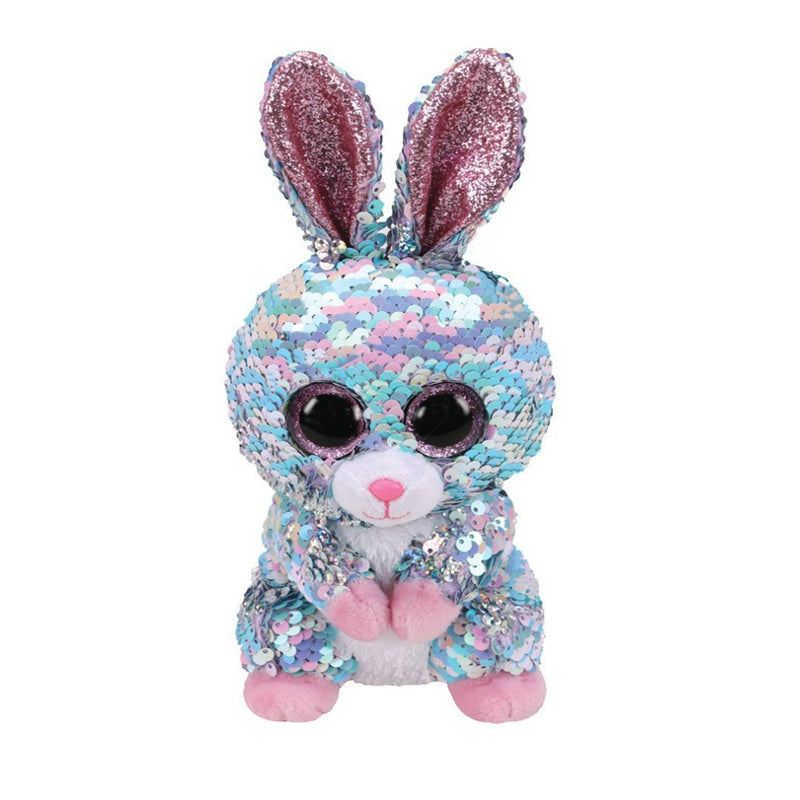 Ty Flippables 6in Regular - RAINDROP - Sequin Blue Bunny
