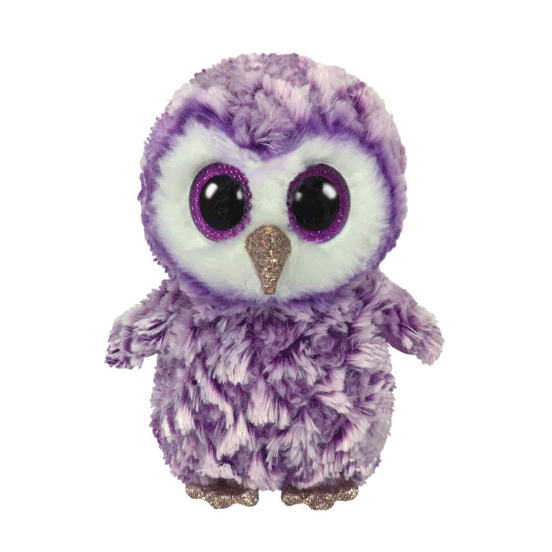 Ty Beanie Boos 13in Medium - MOONLIGHT - Purple Owl