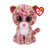 Ty Beanie Boos 13in Medium - LAINEY - Pink Leopard