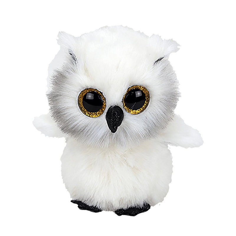 Ty Beanie Boos 13in Medium - AUSTIN - Snowy White Owl