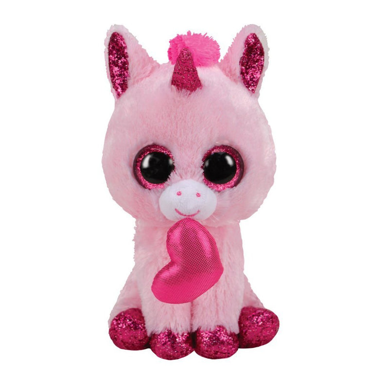 Ty Beanie Boos 13in - DARLING - Unicorn Valentine
