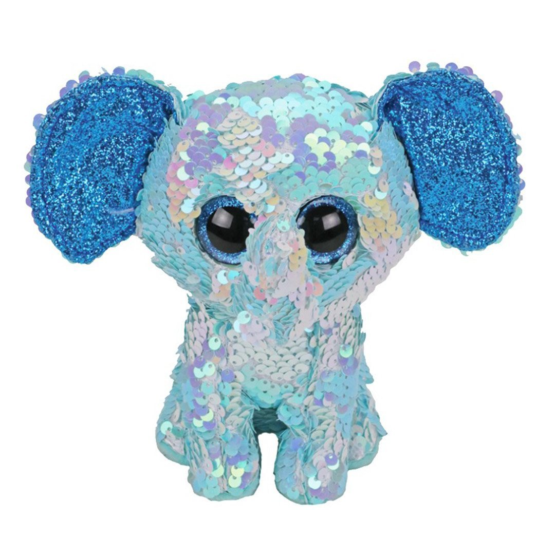 Ty Flippables - STUART - Sequin Blue Elephant