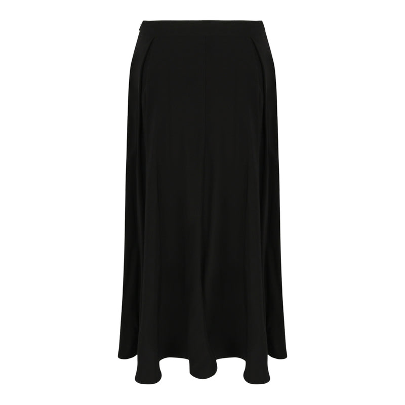 Long Flare Skirt (Black)