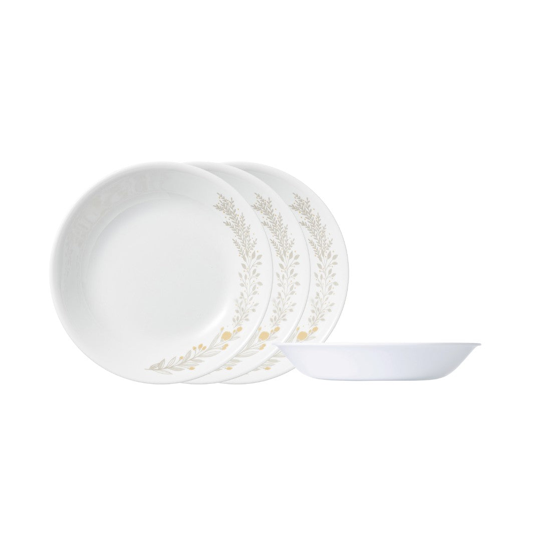 4pc 21cm Soup Plate Set (Silver Crown)