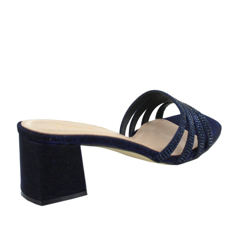 Salitto Slip On Heels (Midnight Blue)