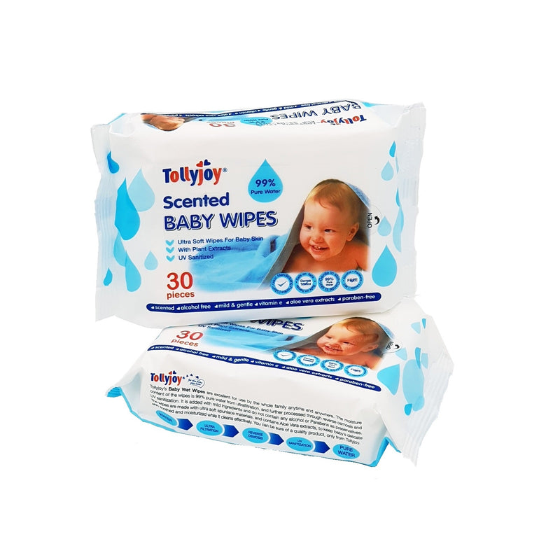 Scented Baby Wet Wipes 30s x 2 Travel Packs