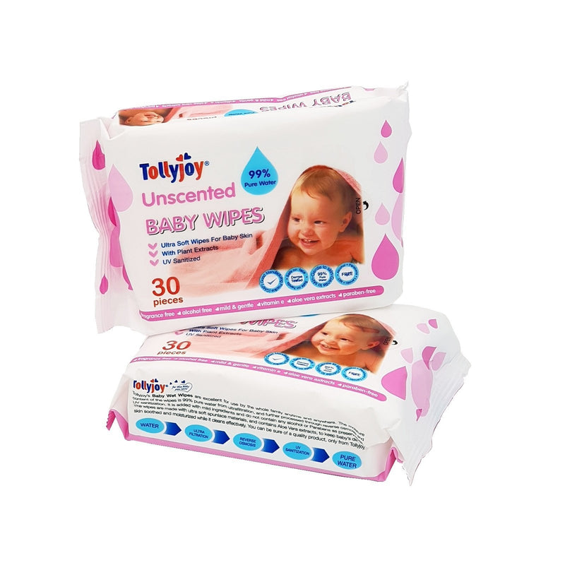 Baby Wet Wipes 30s, 2-packs Set