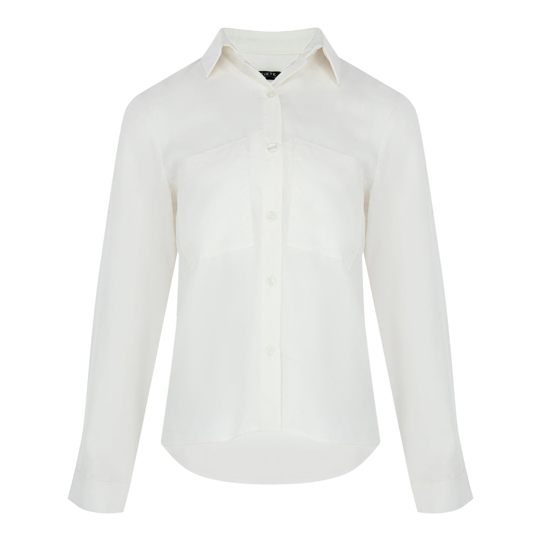 Long Sleeve Pocket Shirt (Off White)