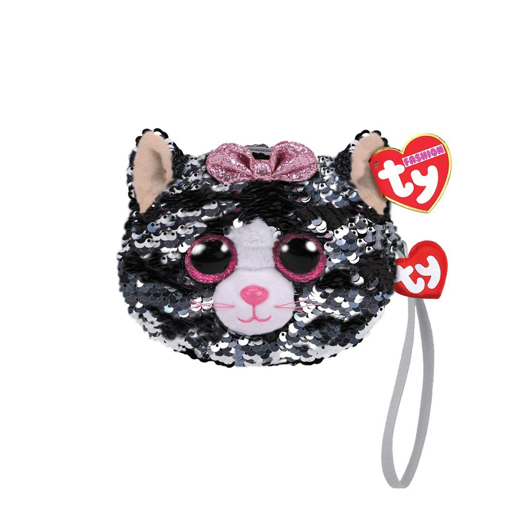 Ty Fashion Sequin - KIKI - Cat Sequin Wristlet