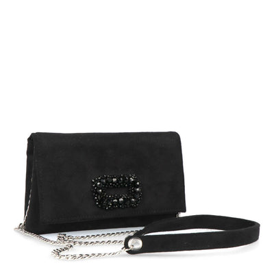 Suede Sling Purse (Black)