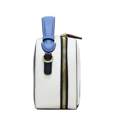 Fin Monochrome Crossbody Bag (White Col : 01)