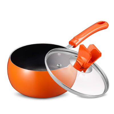 16cm Non-Stick Saucepan - Orange