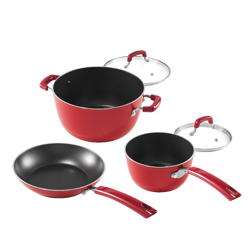 Titan Red 5-Pc Cookware Set