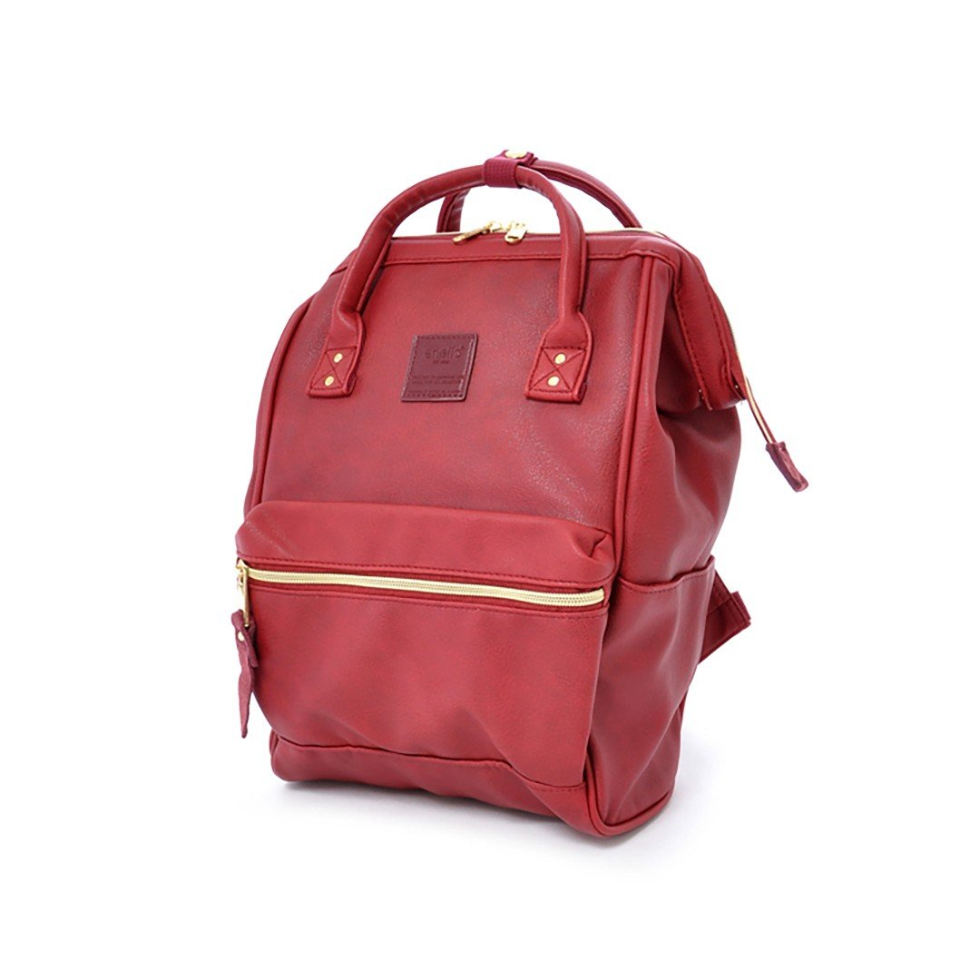 Backpack Leather Mini, Wine