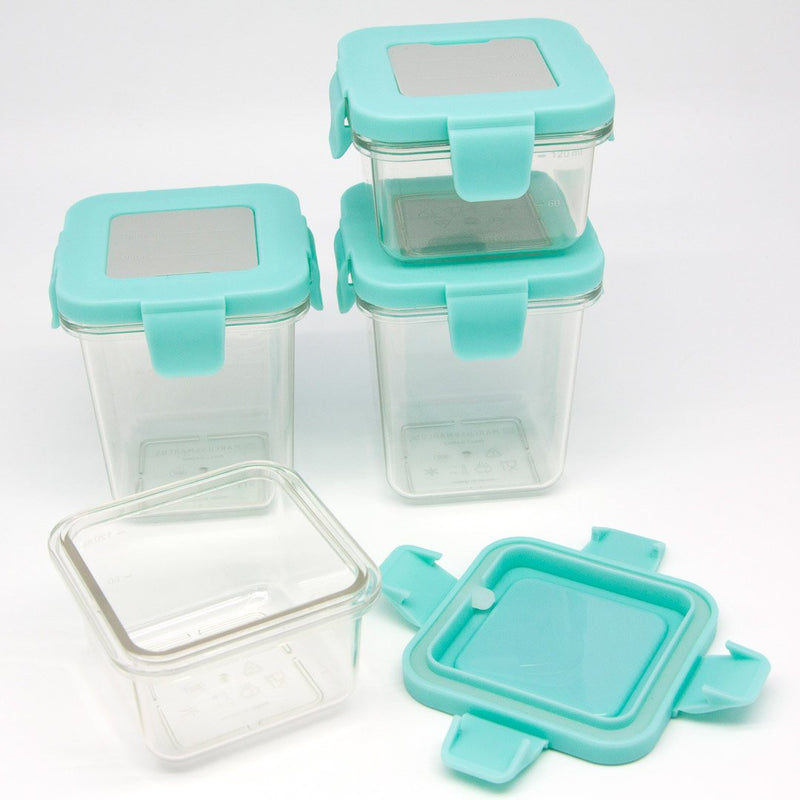 Tritan Air Tight Container - 4Oz X 2Pcs 8Oz X 2Pcs