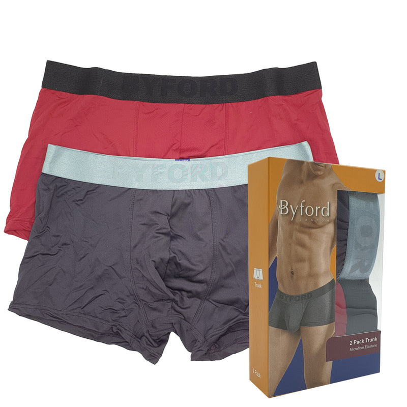 Microfiber Trunks With Elastic Waistband 2-PC (Assorted colours)