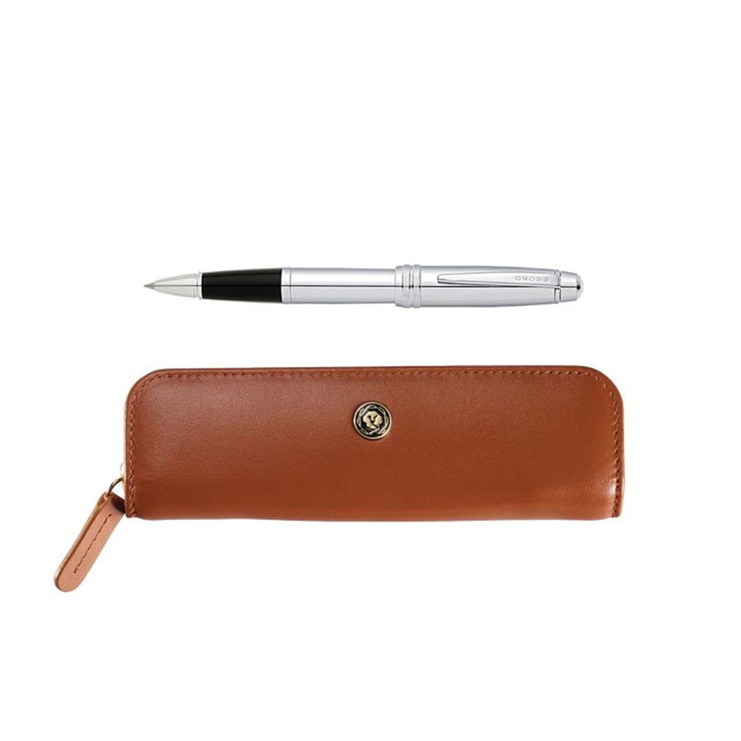 Bailey Rollerball Pen Polished Chrome + Pouch
