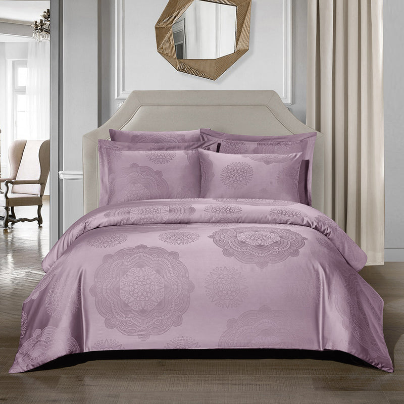 Loretta Bohemian Fitted Sheet Set in Purple