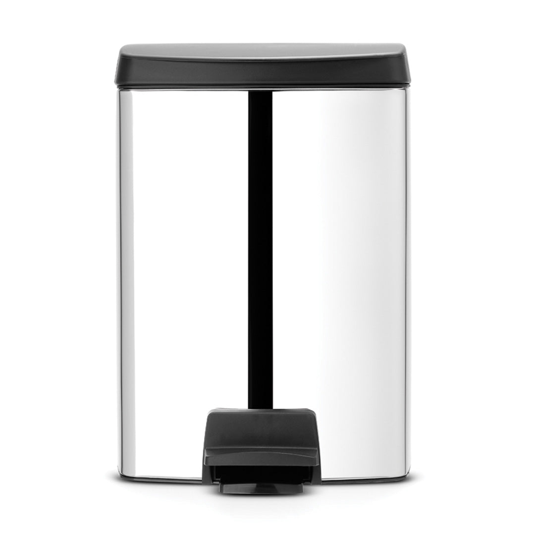 Pedal Bin 10L Brilliant Steel