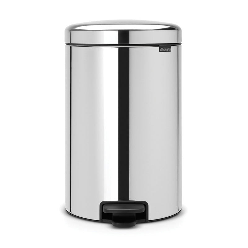 Pedal Bin 20L Brilliant Steel