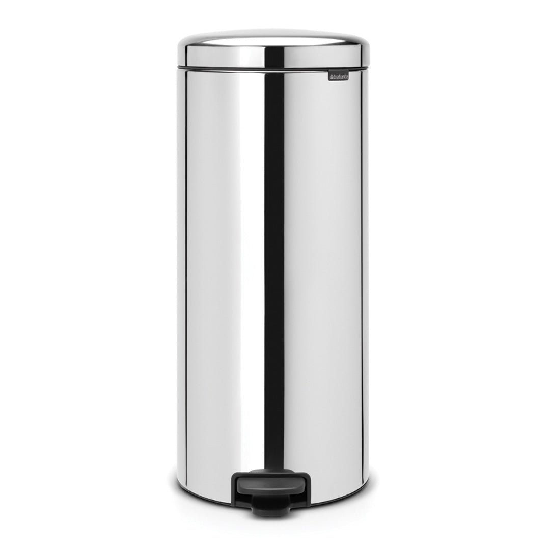 Pedal Bin 30L Brilliant Steel