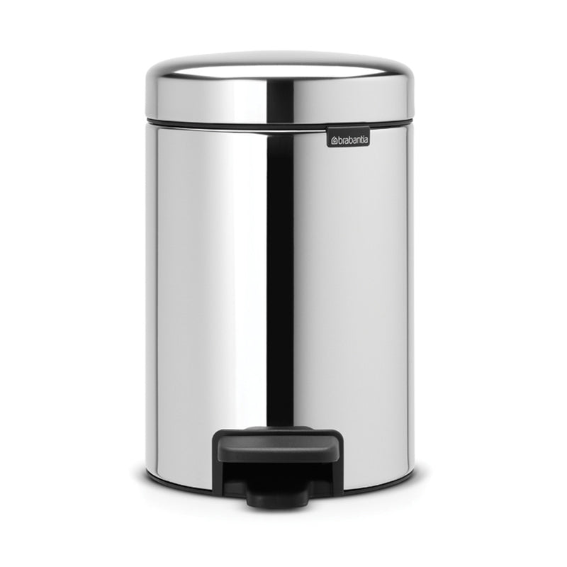 Pedal Bin 3L Brilliant Steel