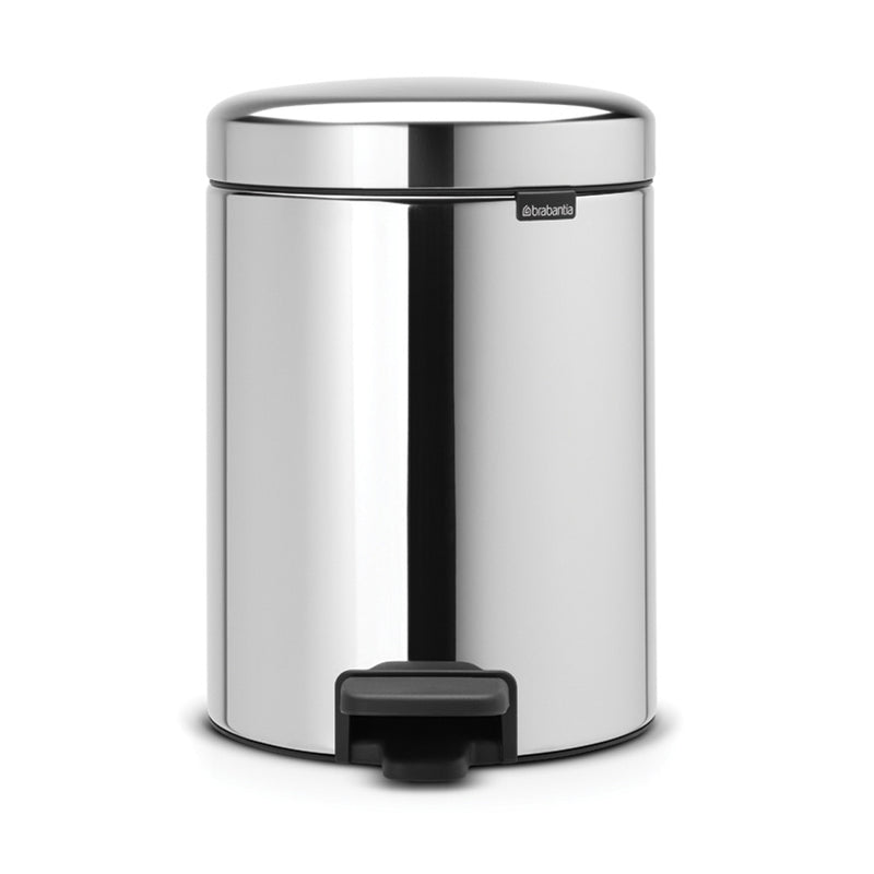 Pedal Bin 5L Brilliant Steel
