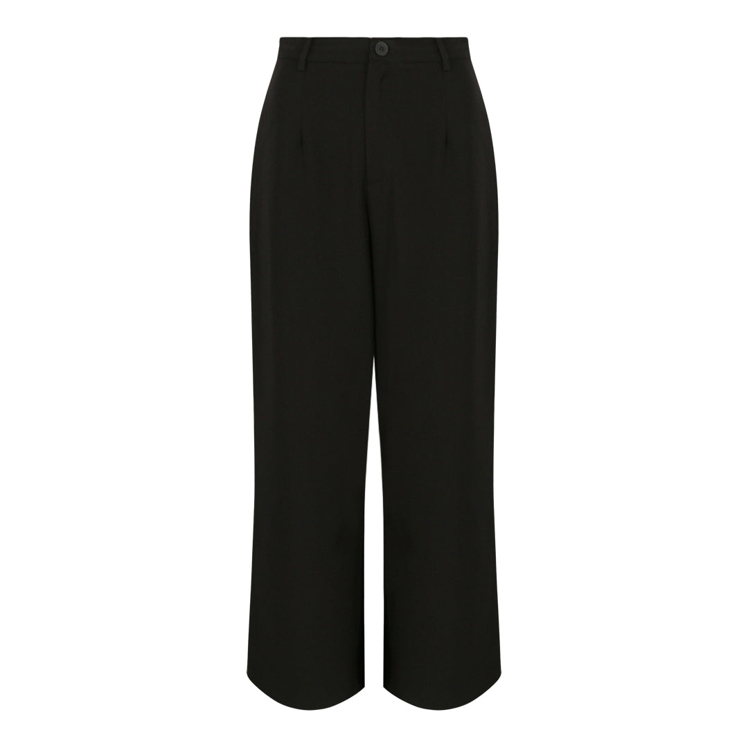 High Waist Flare Pants (Black)