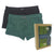 Bamboo Trunks 2-PC (Black / Green)
