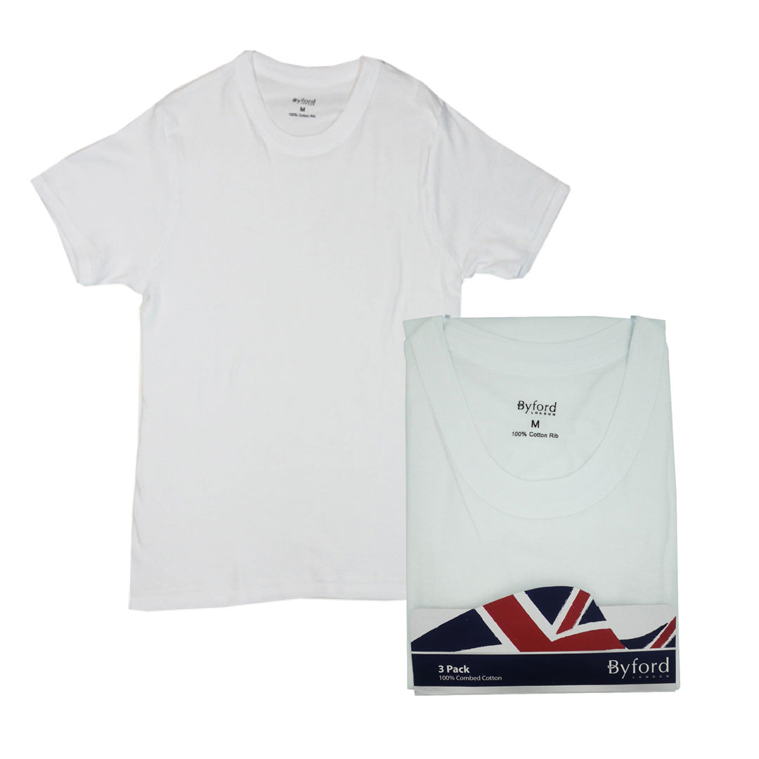 Round Neck Tees 3-PC (White)