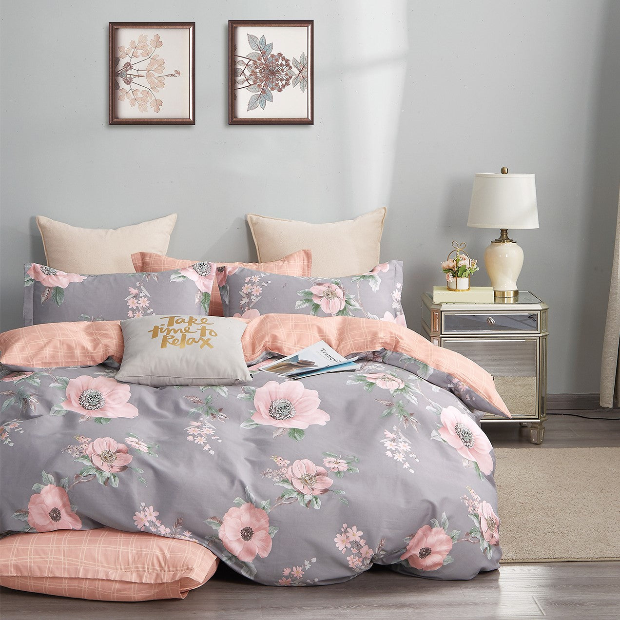 100% Natural Combed Cotton 930TC Bed Set (Felicity)
