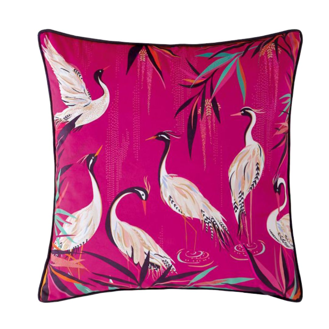 Heron - Feather Filled Cushion 50cm X 50cm (Pink)