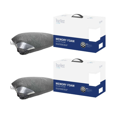 (Bundle of 2) Charcoal Memory Foam Deluxe Pillow