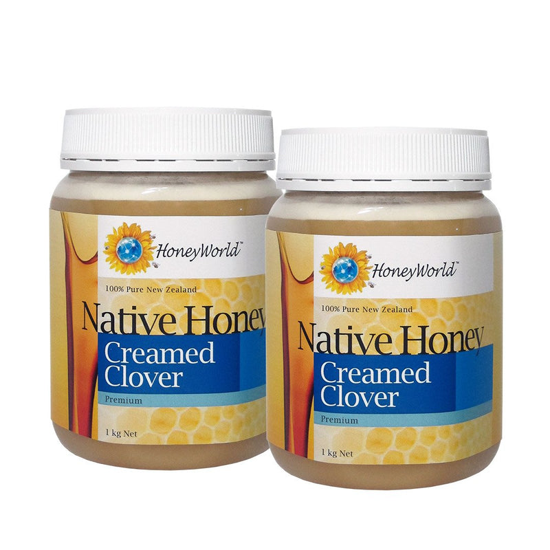 Clover Honey 1kg Creamed Bundle of 2