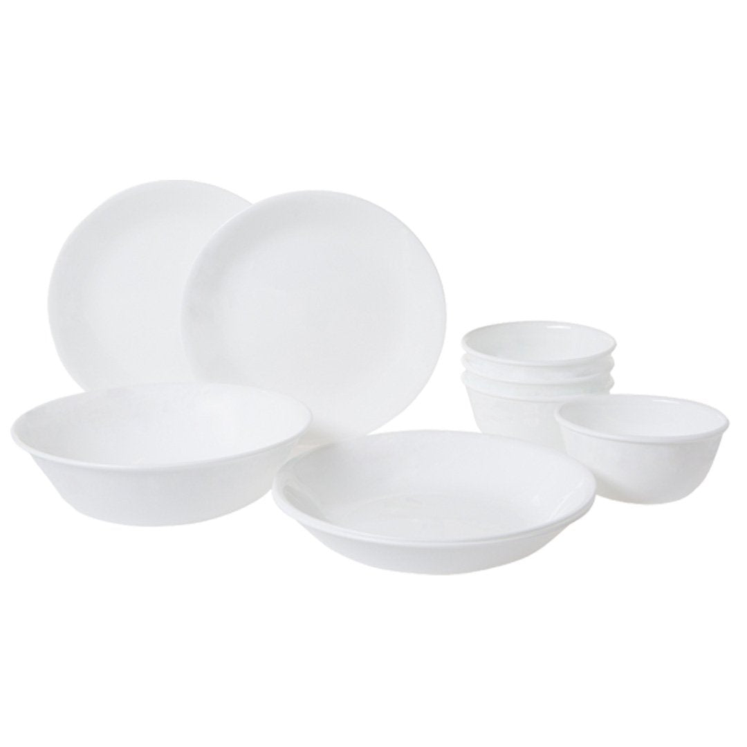 9pc Dinner Set, Winter Frost White