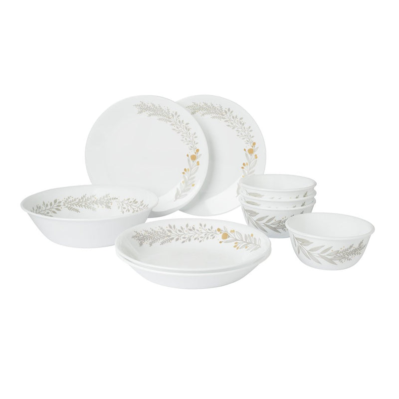 9pc Dinner Set, Silver Crown