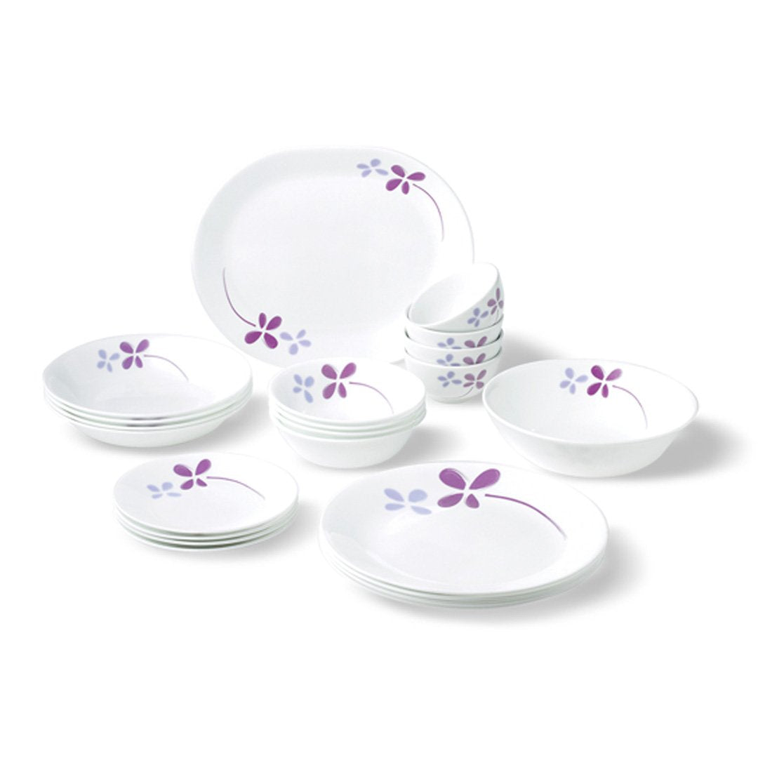 22pc Dinner Set, Warm Pansies