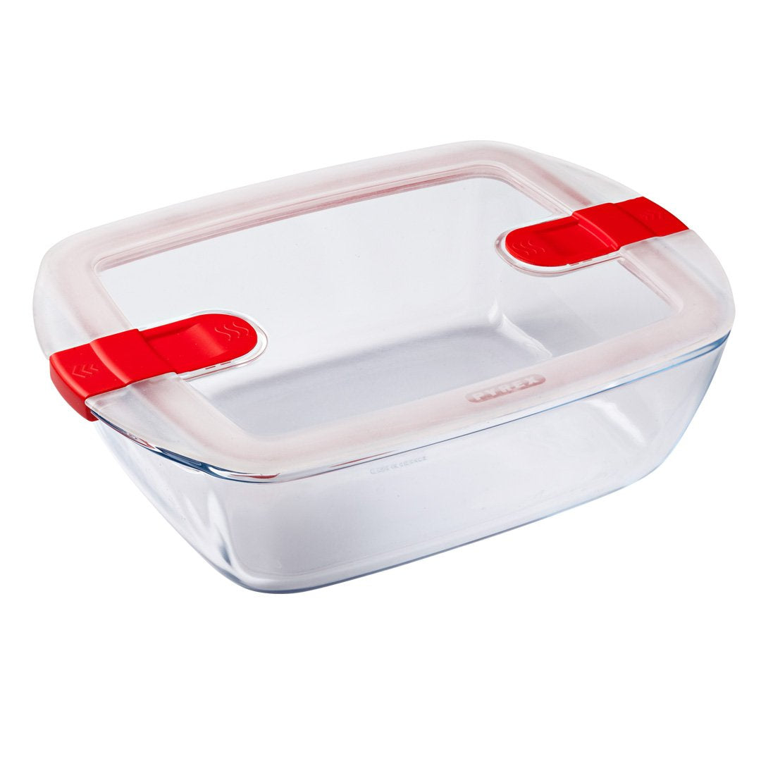 Cook & Heat 2.5L Rectangle Dish with Lid
