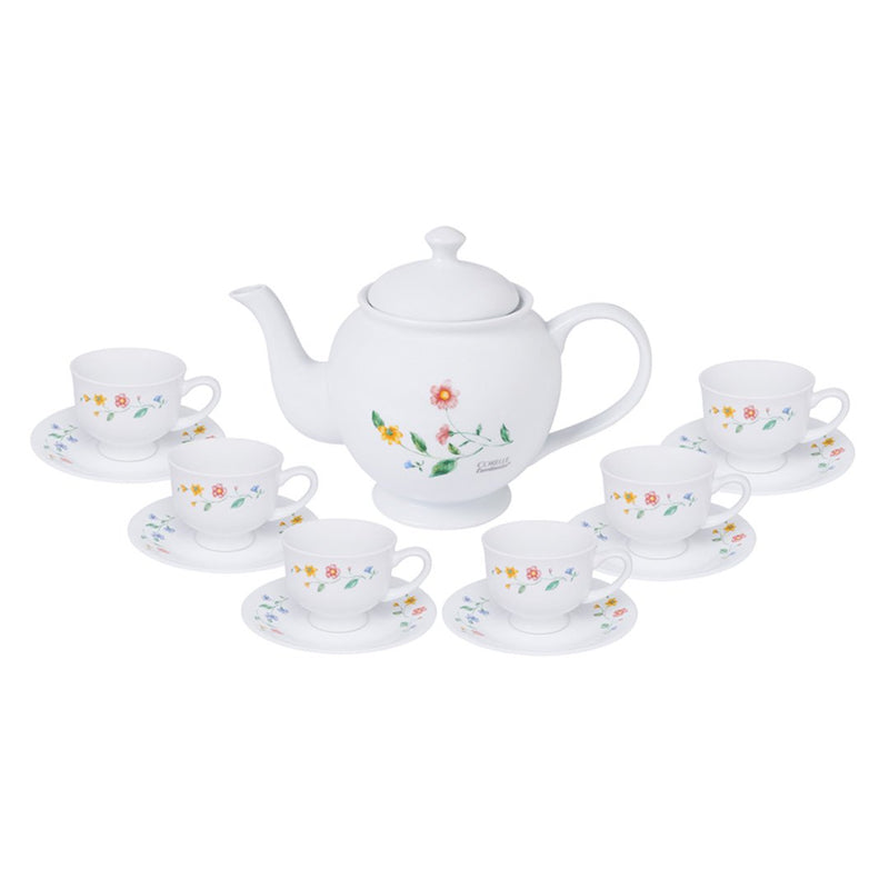 12pc Cup & Saucer Set with Free 1.2L Teapot (worth $69), Purun Flower