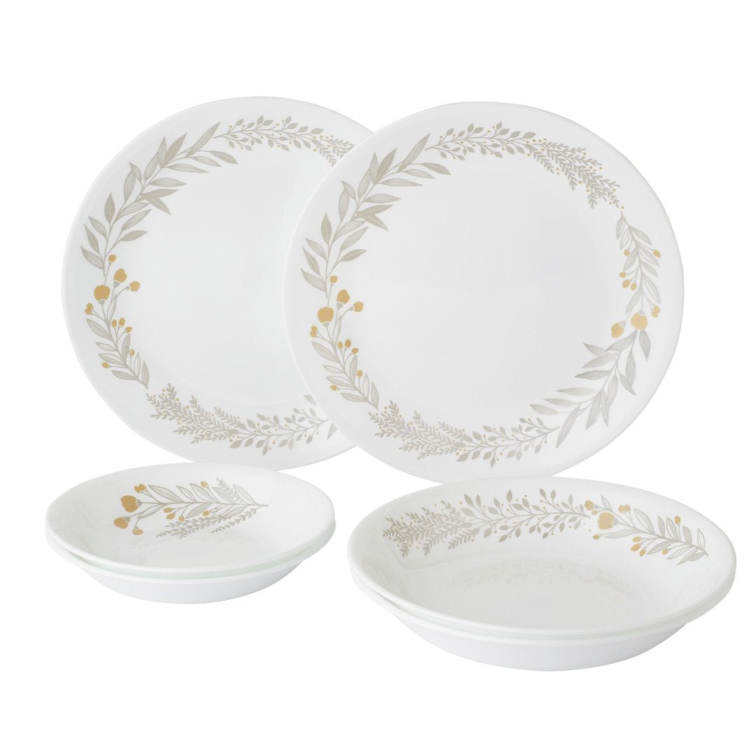 6pc Dinner Set, Silver Crown