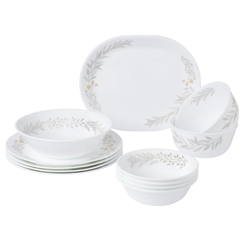 12pc Dinner Set, Silver Crown