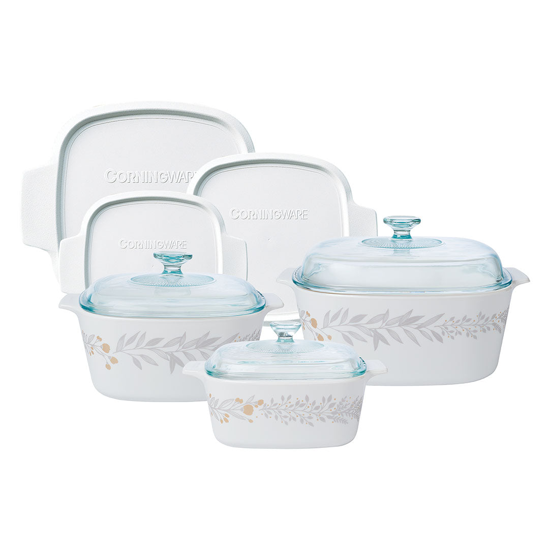 9pc Casserole Set, Silver Crown