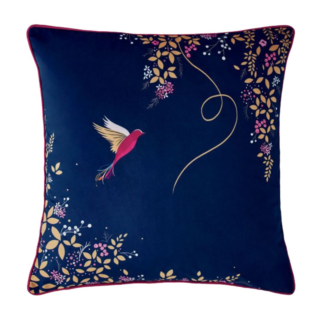 Hummingbird - Feather Filled Cushion 50cm X 50cm (Navy)