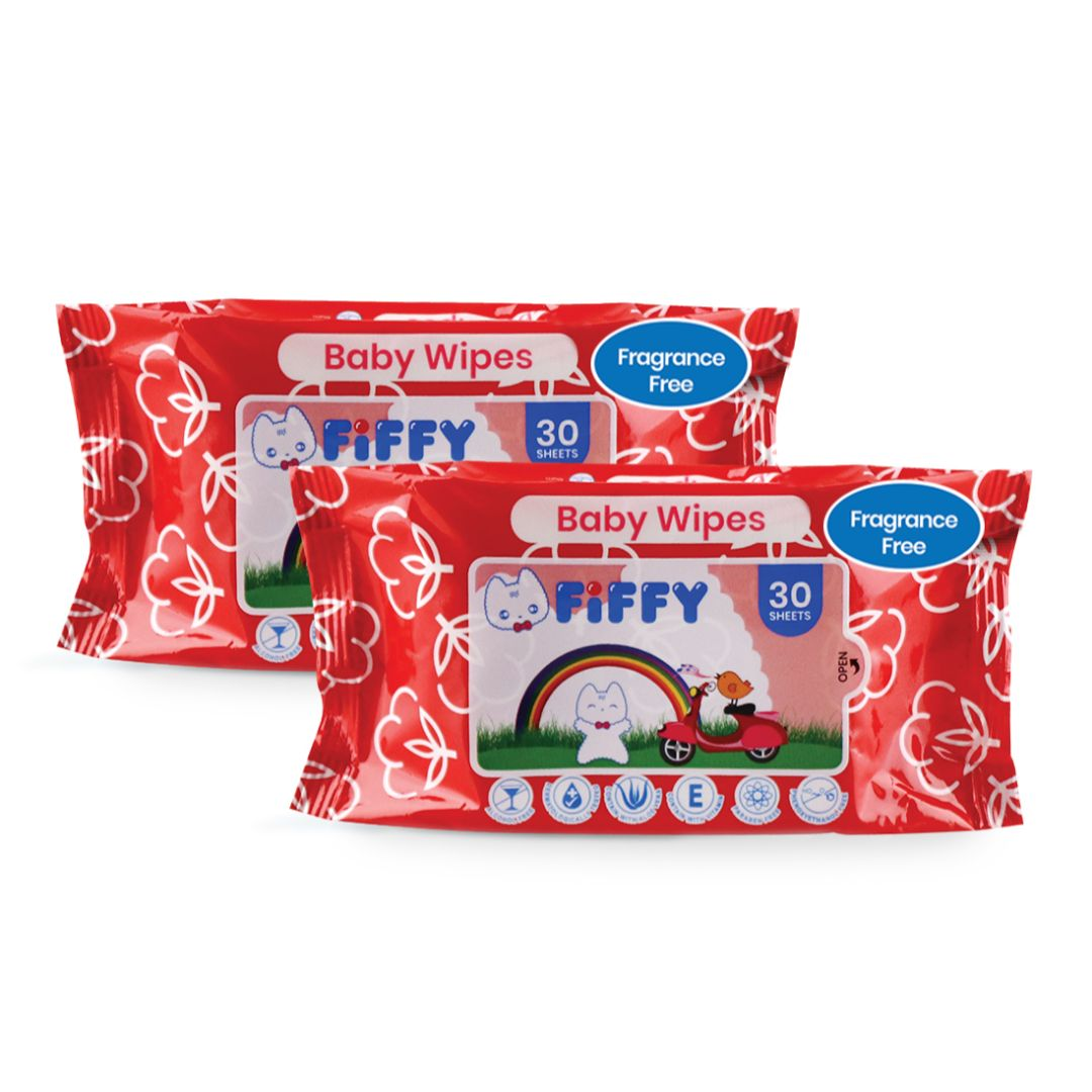 Baby Wipes Fragrance-free 30s 2 Packs