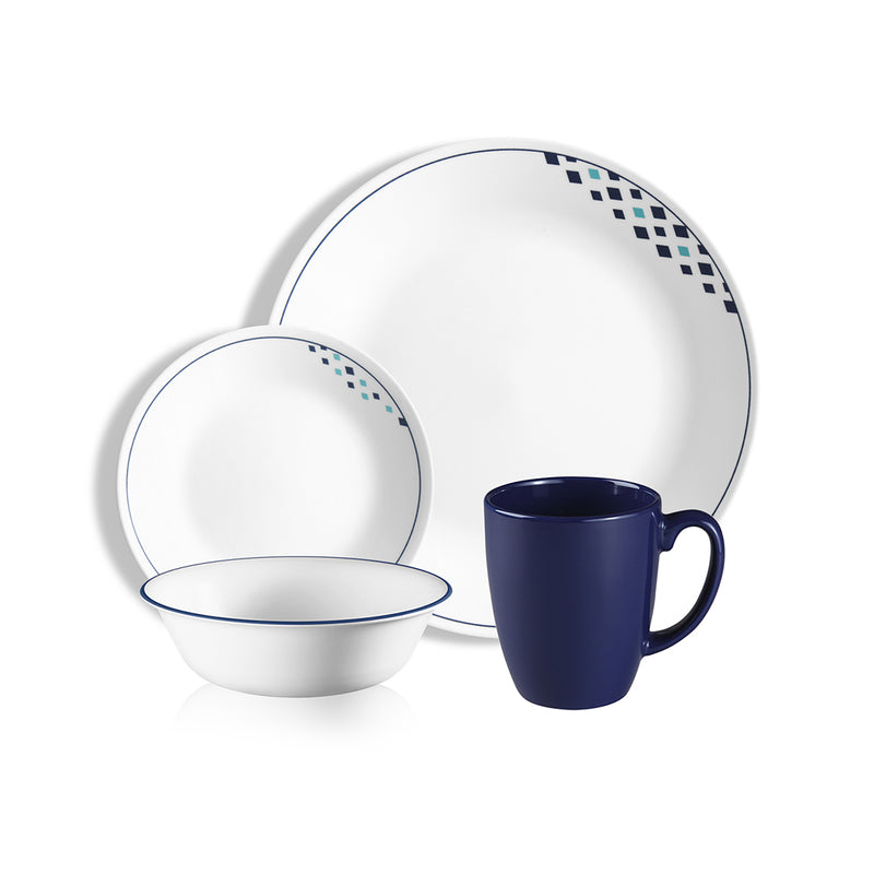 16pc Dinner Set, Fusion Cobalt