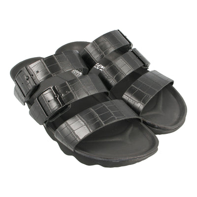 Leather Sandals with Triple Strap